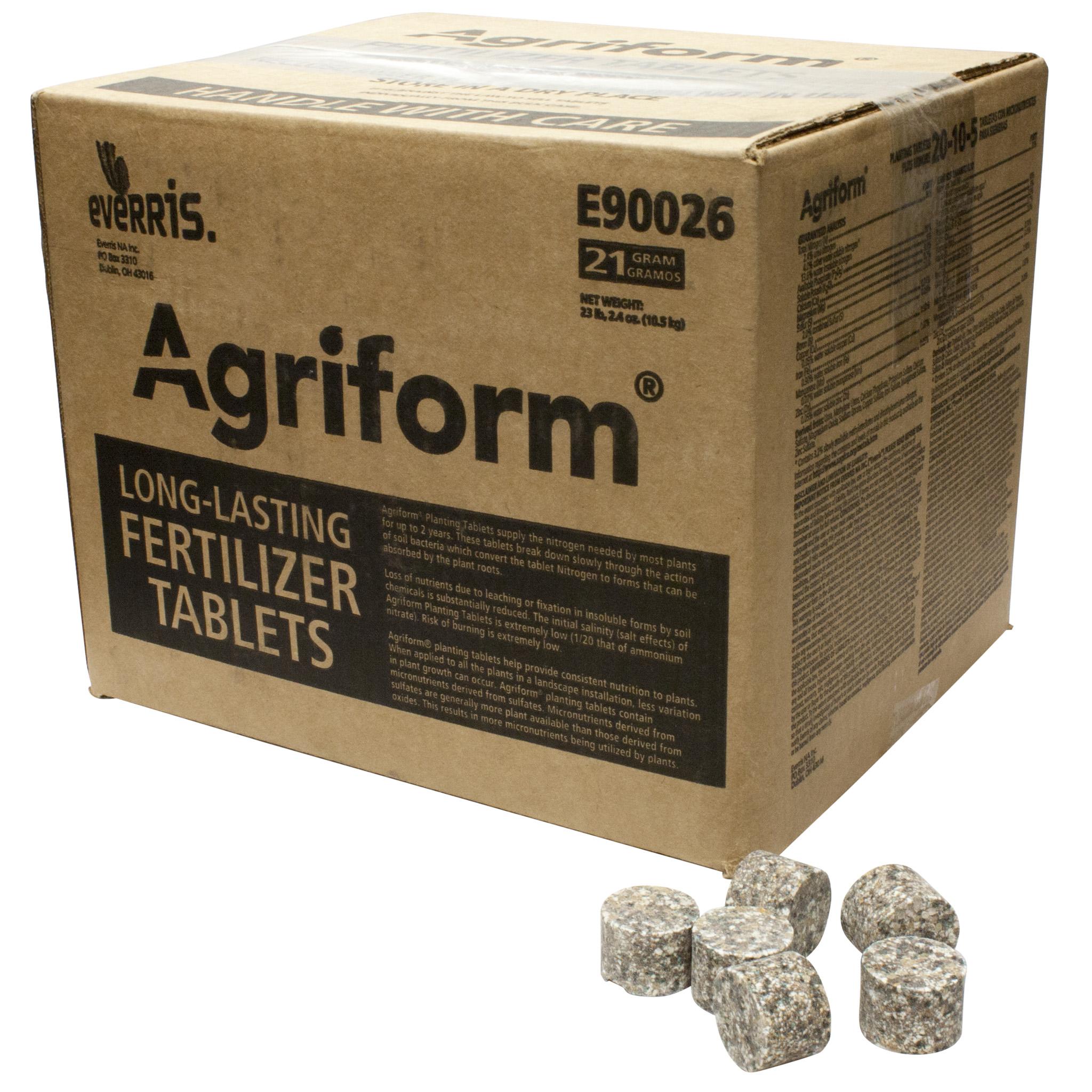 Agriform 20-10-5 Planting Tablets Plus Minors 21 gm. (E90026)
