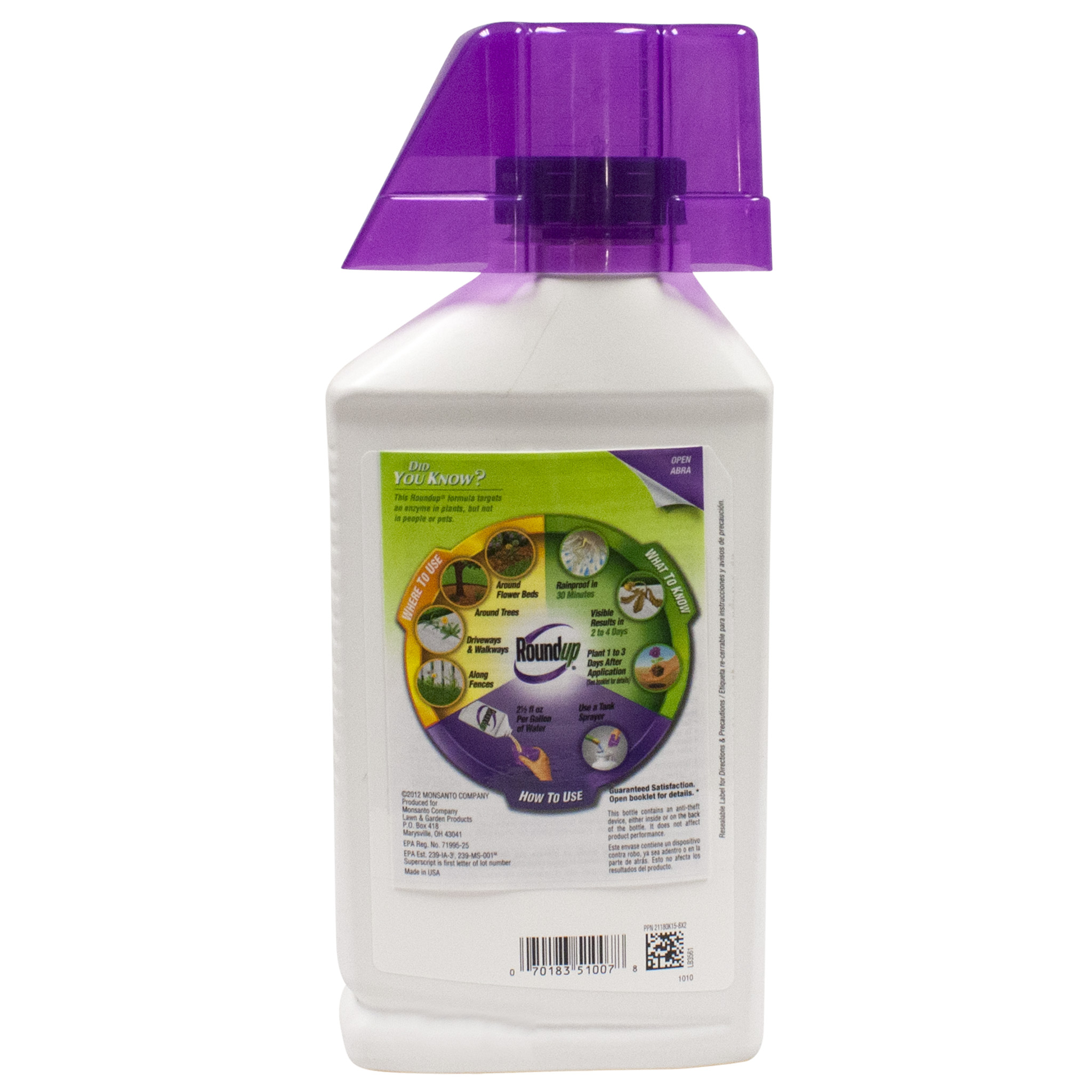 Roundup Weed Grass Killer Super Concentrate Alternate Image 1