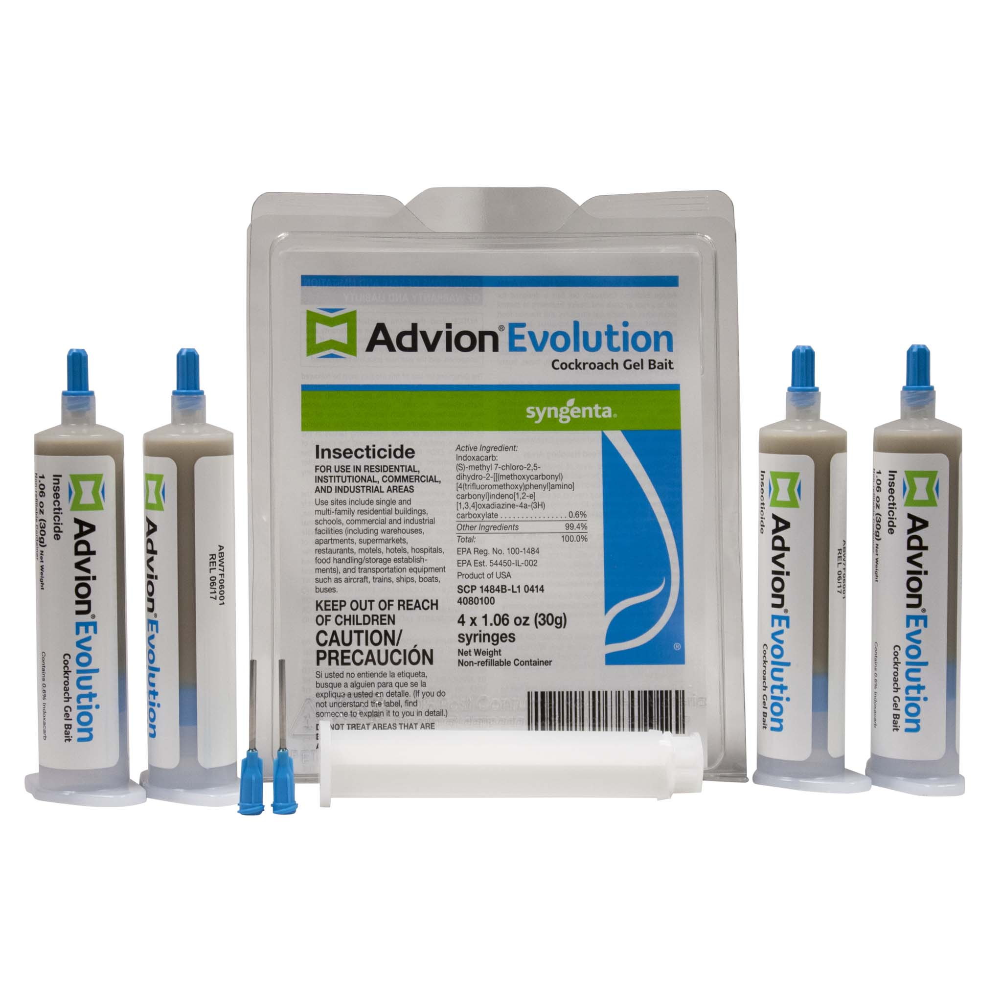 This is an image of Tactueux Advion Evolution Cockroach Gel Bait Label