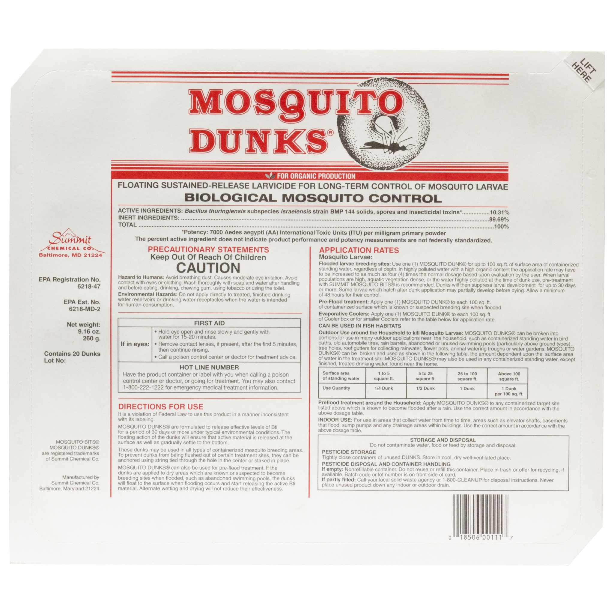 5 models of mosquito dunks home depot king chacha for Bti mosquito dunks