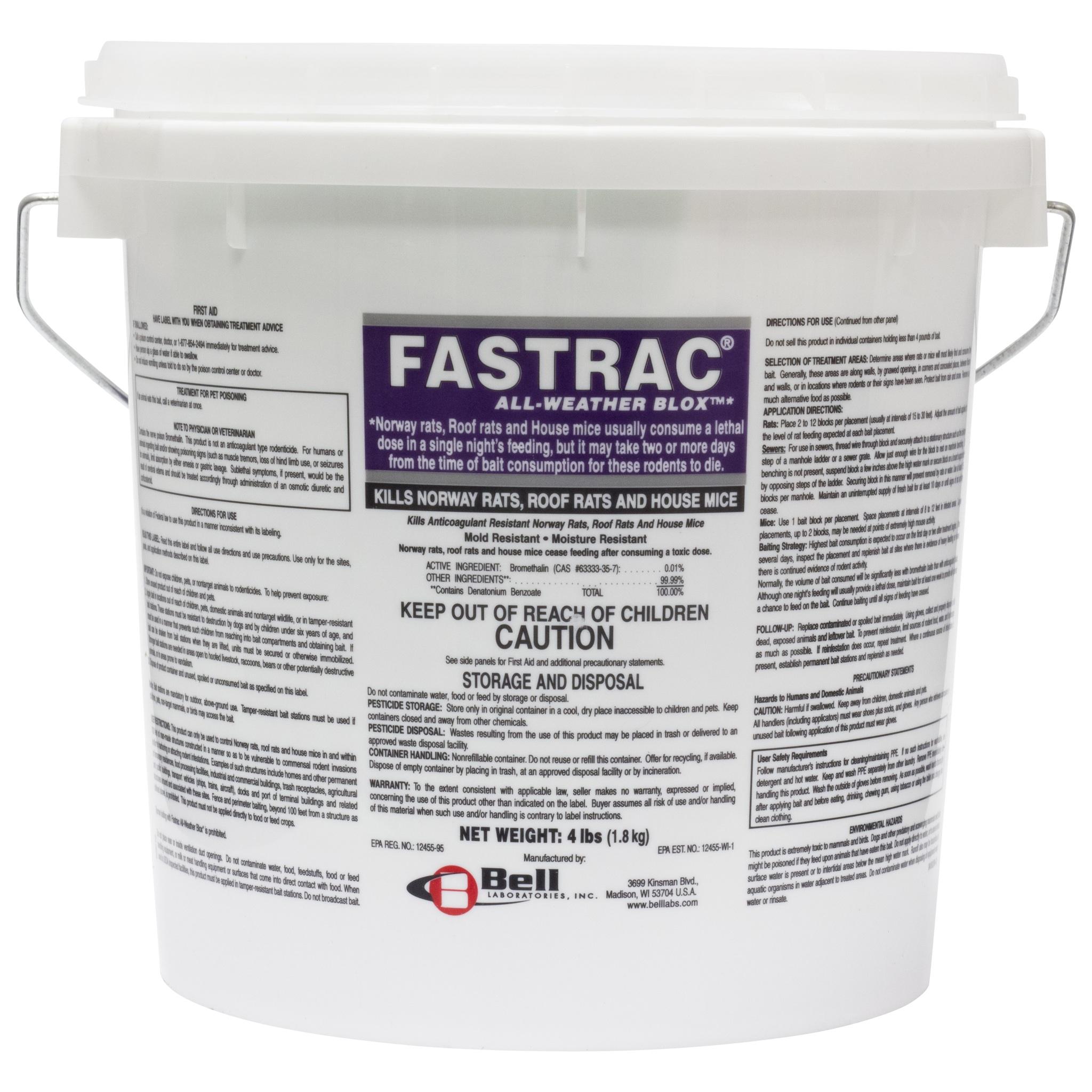 Fastrac Blox - (4 lb. pail / 128 bait blocks)