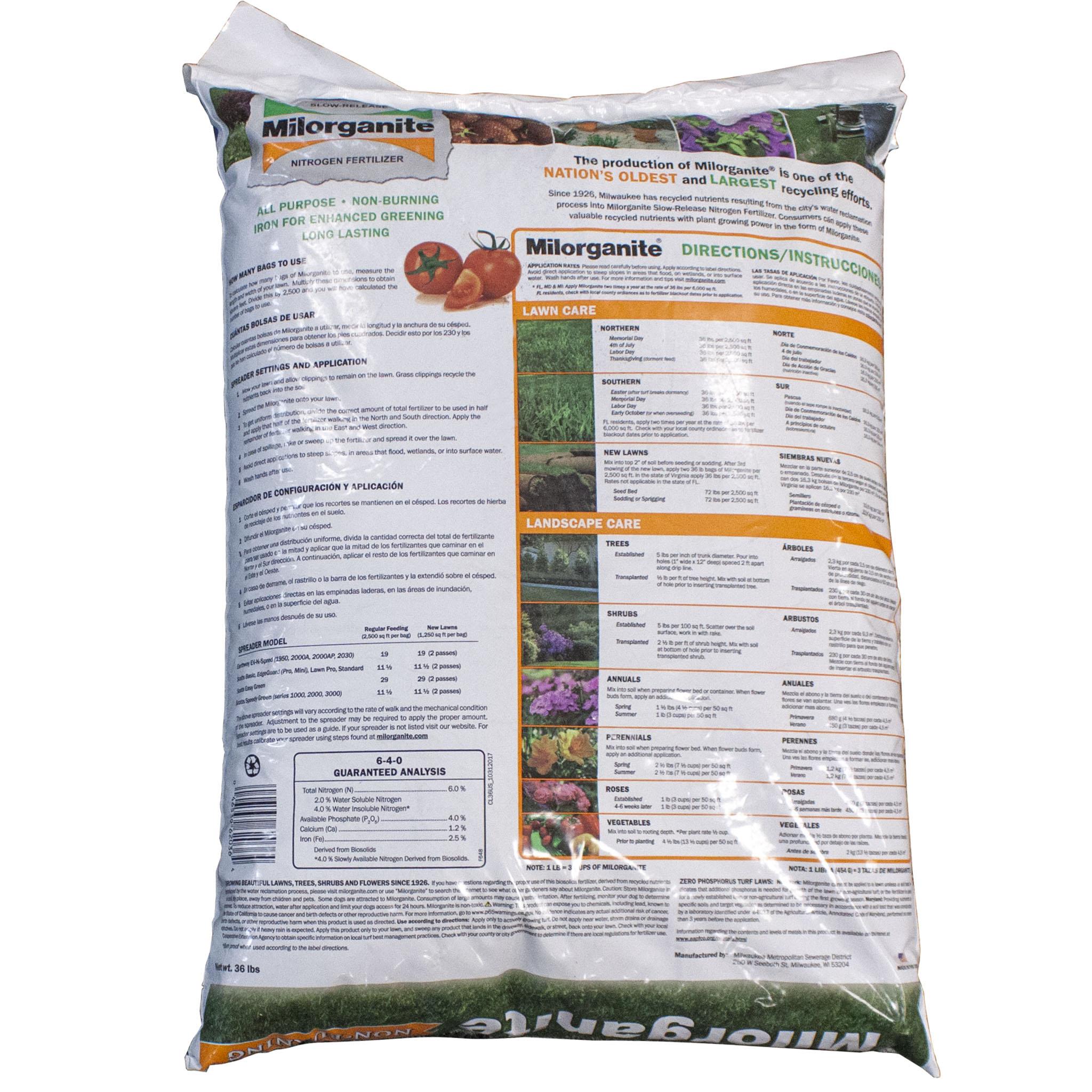 Milorganite Fertilizer 5 4 0
