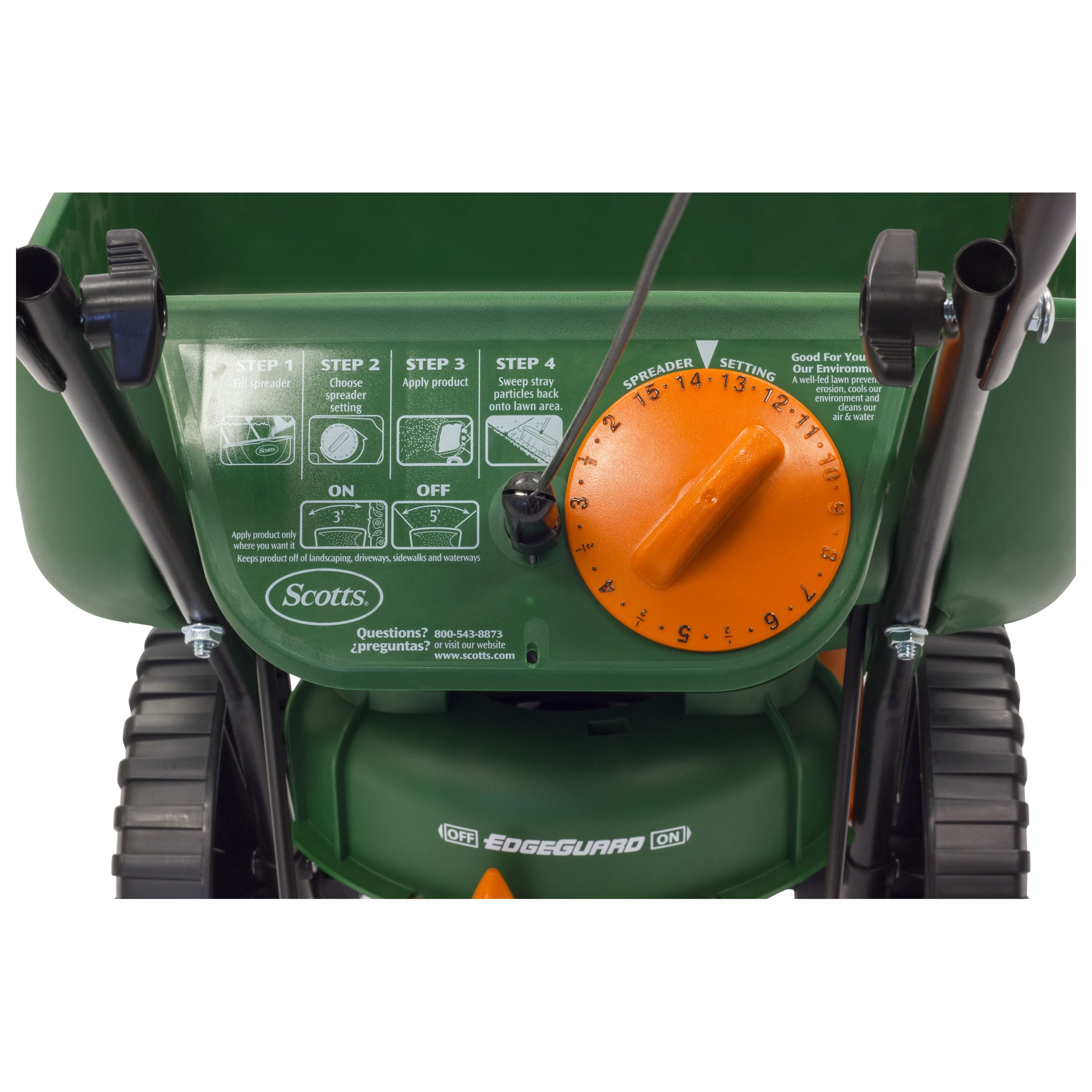 Scotts Turf Builder Edgeguard Mini Broadcast Spreader Alternate Image 1 2