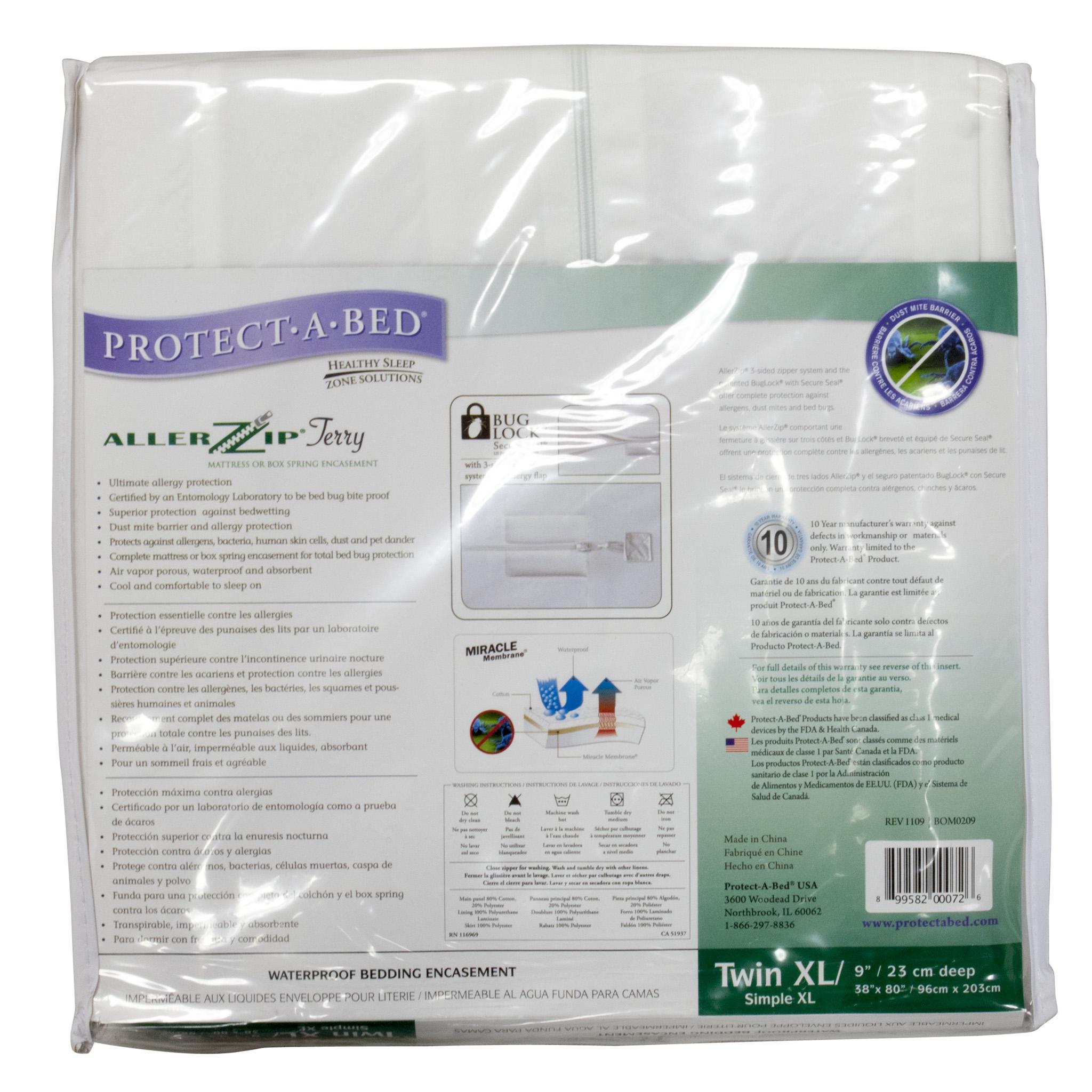 bed bug mattress cover, protect-a-bed allerzip mattress encasement