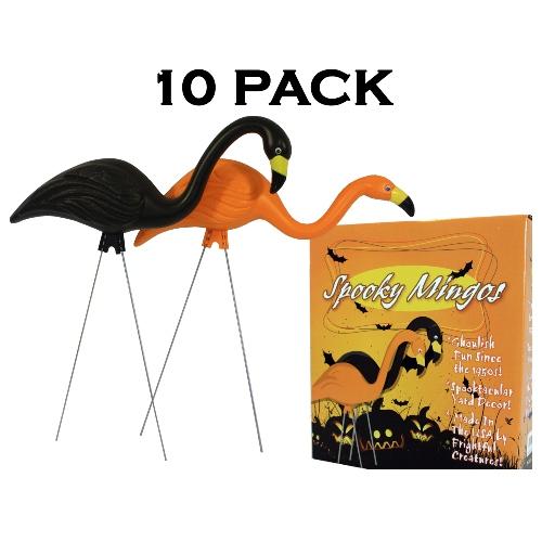 Bloem Spooky Flamingo 25 In. Halloween Black Orange Yard
