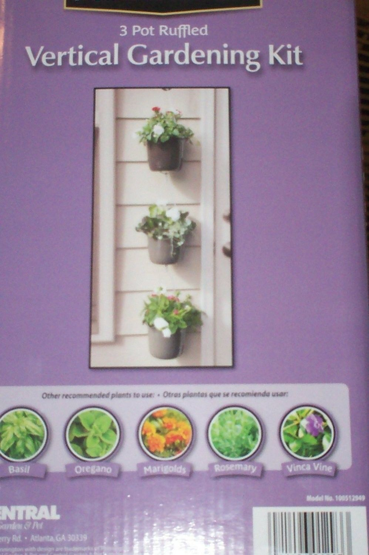 Pennington 3 Pot Ruffle Vertical Gardening Kit 7 In