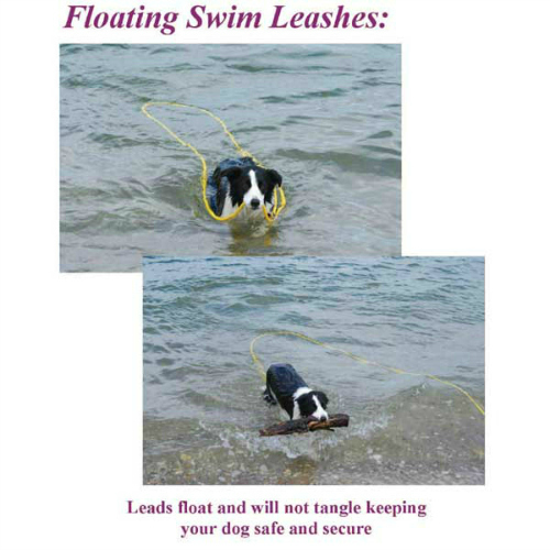 Soft Lines Floating Dog Swim Snap Leashes 3 8 In