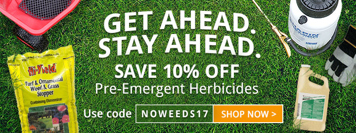 Take 10% OFF Fall Pre-Emergents!