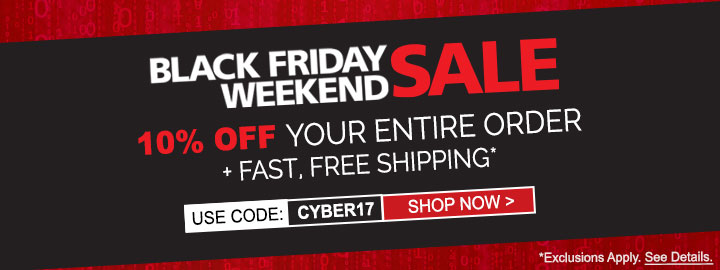 Black Friday 2017 - 10% off your entire order