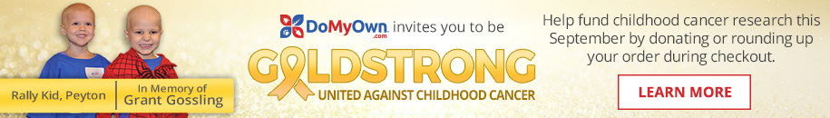 DoMyOwn.com is Going Gold for Childhood Cancer Research All September