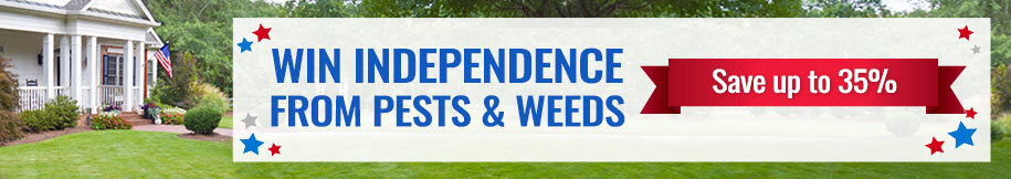 Win Independence from Pests and Weeds -Save up to 35%