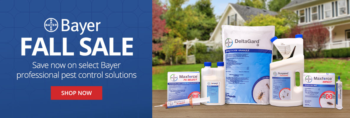 Bayer Fall Sale- save on select Bayer professional pest control solutions