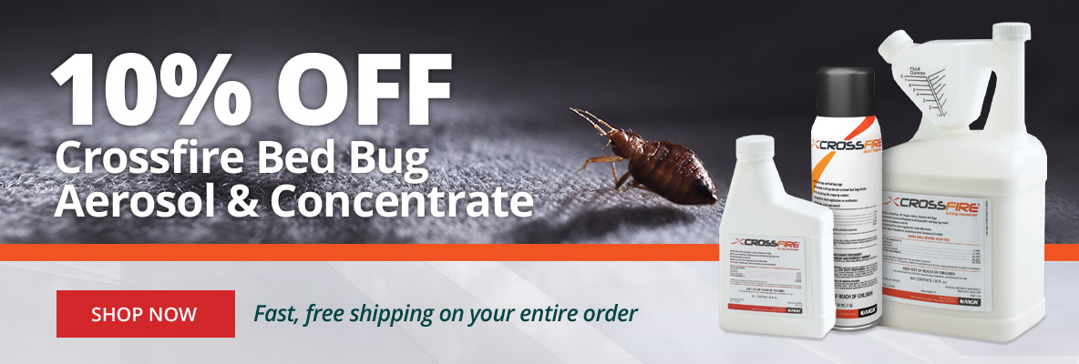 10% Off Crossfire Bed Bug Aerosol & Concentrate
