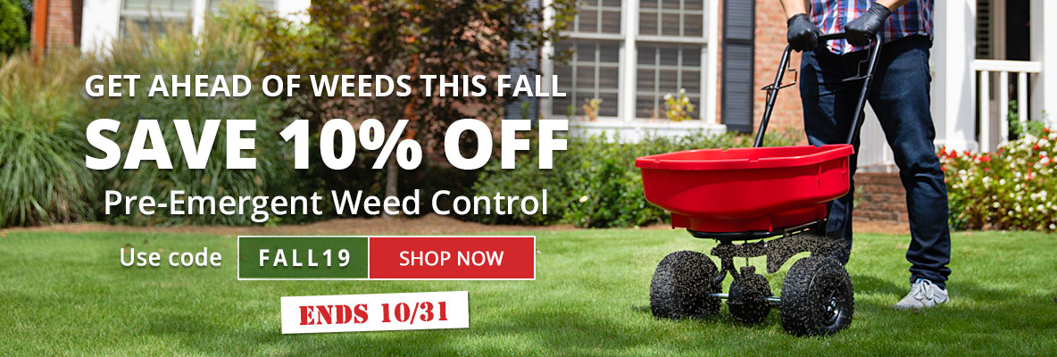 Save on Pre-Emergent Herbicides Just in Time for Fall