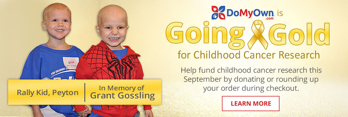 DoMyOwn is Going Gold this September - Help fund childhood cancer research by donating or rounding up your order during checkout