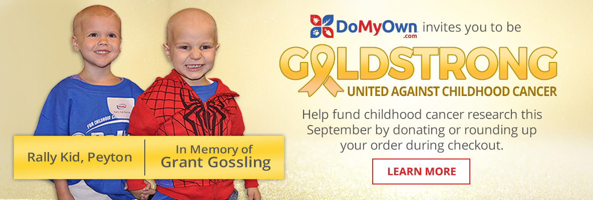 DoMyOwn is Gold Strong this September - Help fund childhood cancer research by donating or rounding up your order during checkout
