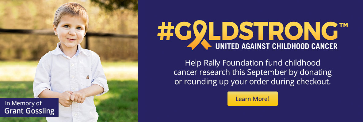 GoldStrong- help Rally Foundation fund childhood cancer research this September