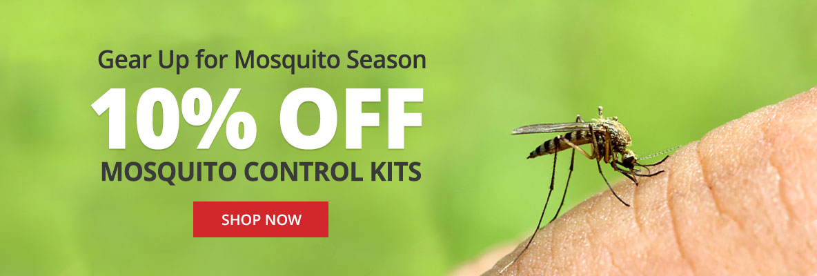 Save 10% off Mosquito Control Kits for Spring