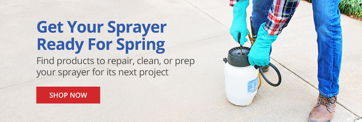 Get Your Sprayer Ready for Spring with Maintenance & Cleaners
