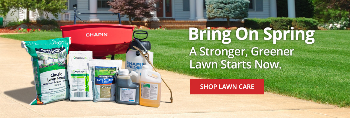 Bring on Spring- a stronger, greener lawn starts now -Shop Lawn Care