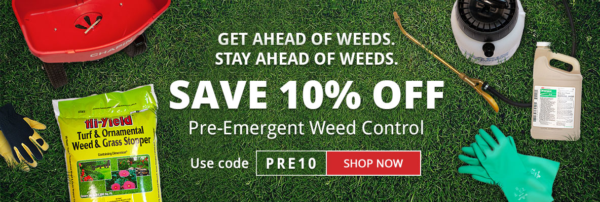 Save 10% Off Pre-Emergent Weed Control Just in Time for Spring at DoMyOwn.com