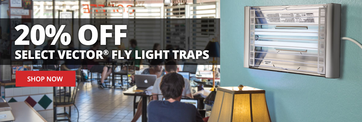 Save 20% off select Vector Fly Light Traps