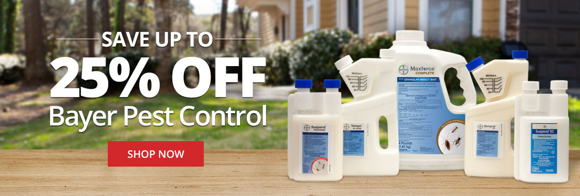 Save up to 25% off Bayer Pest Control for Spring
