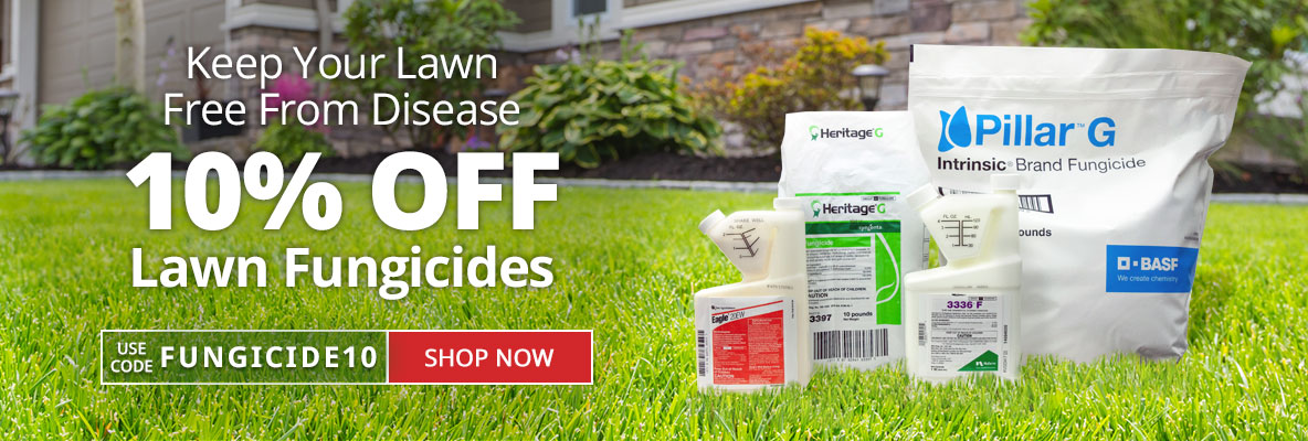 10% Off Lawn Fungicides