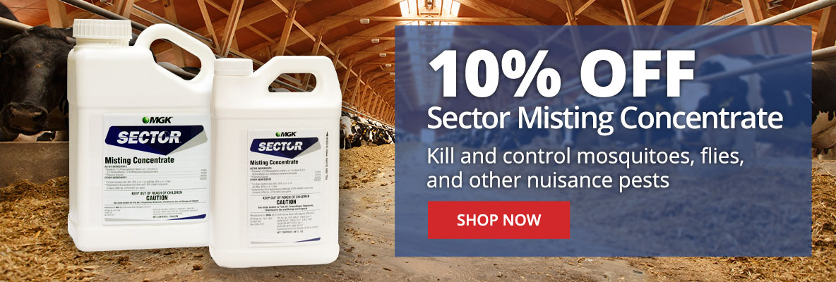 Save 10% Off Sector Misting Concentrate - Kill & Control Mosquitoes & Flies