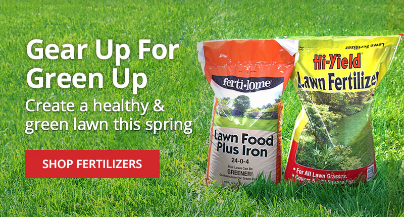 Create a healthy and green lawn this spring -shop fertilizers
