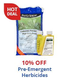 10% Off Pre-Emergent Herbicides
