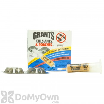 Grant\'s Kills Ants & Roaches Bait Syringe with 2 Fillable Bait Stations