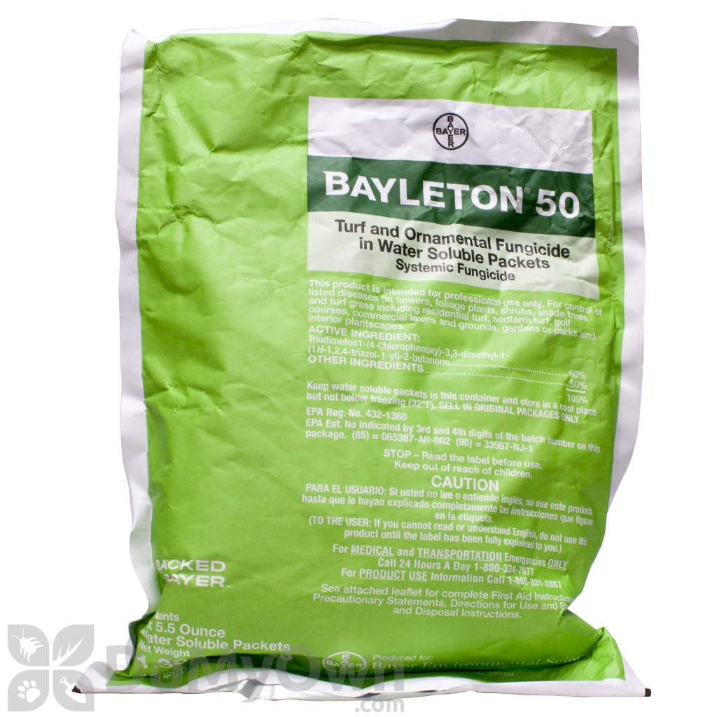 Bayer Bayleton 50 Turf and Ornamental Fungicide WSP