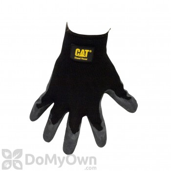 CAT Black Latex Palm String Knit Gloves