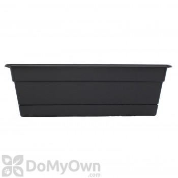 Bloem Dura Cotta Window Box 30 in. Black