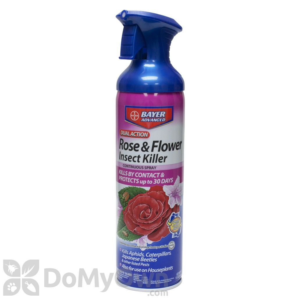 Bayer Dual Action Rose And Flower Insect Killer Continuous