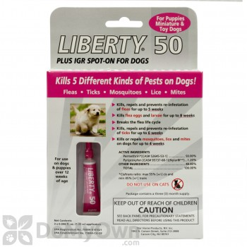 Liberty 50 Plus IGR Spot - On for Dogs