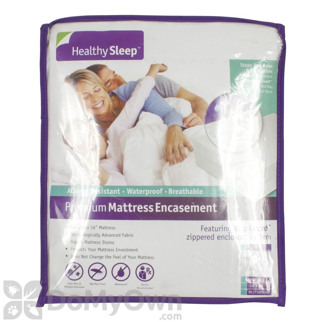 quick view healthy sleep allergy premium plus mattress encasement - Bed Bug Mattress Covers