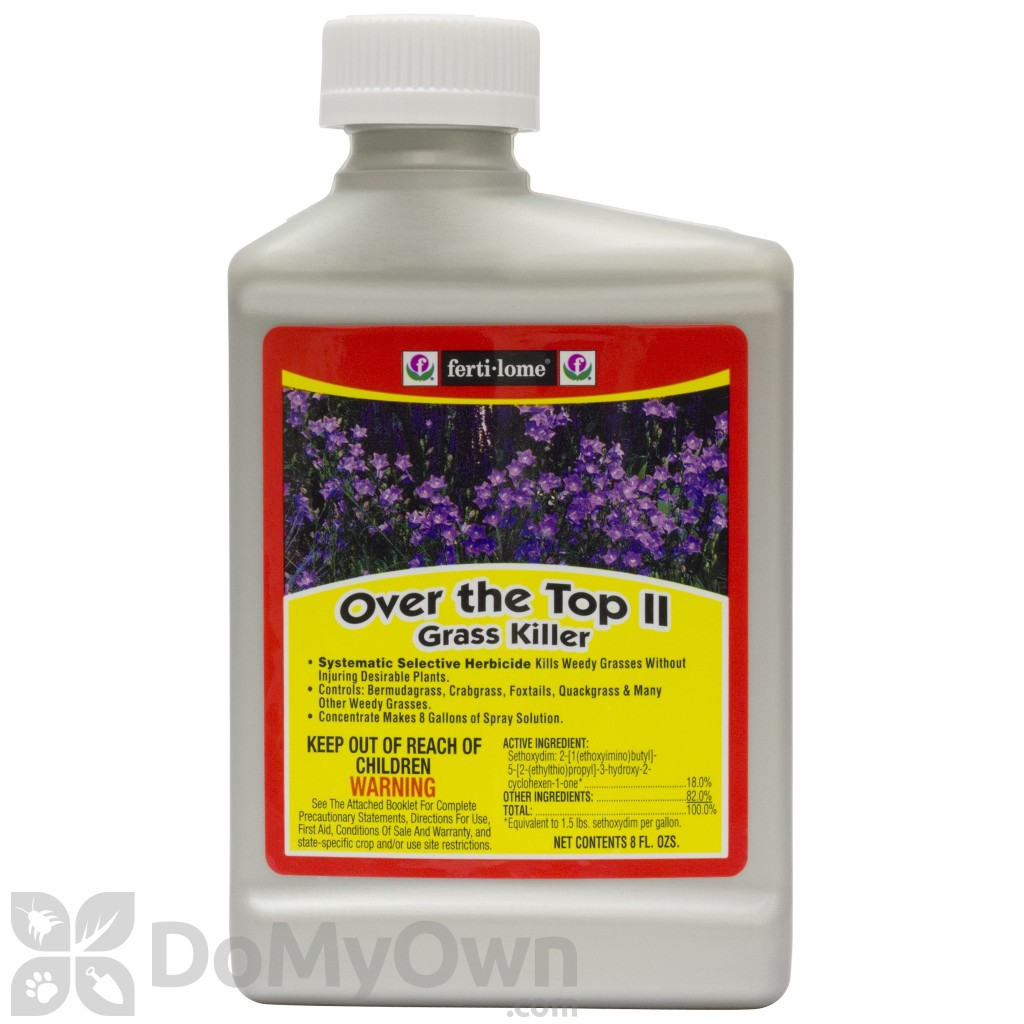 Weeds in flower beds herbicide - Fertilome Over The Top Ii Grass Killer