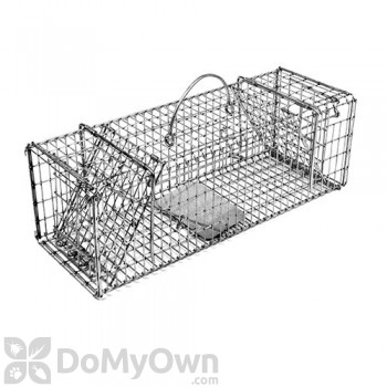 Tomahawk Collapsible Live Trap with Two Trap Doors for chipmunk, gopher, rat, muskrat & similar sized animals - Model 200