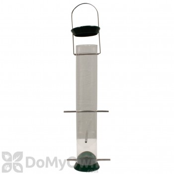 Droll Yankees 6 Ports Metal Thistle Bird Feeder Green 15 in. (CJTHM15G)