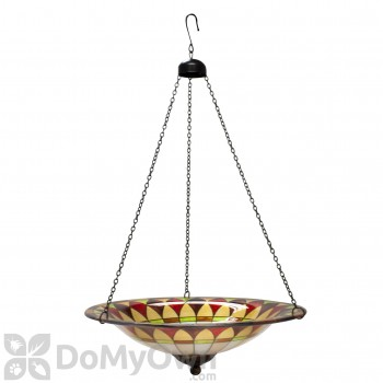 Evergreen Enterprises Tiffany Hanging Glass Bird Bath (2GB218)
