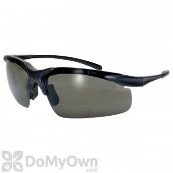 Global Vision Eyewear Apex Bifocal Safety Glasses - Smoke Lenses