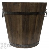 Pennington Dark Flame Wood Bucket 14 in.