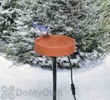 Allied Precision Heated Bird Bath with Metal Stand 12 in. (400)
