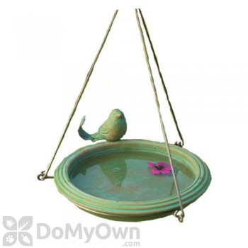Ancient Graffiti Teal Round Hanging Bird Bath (AG17026)