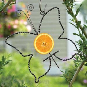 Ancient Graffiti Hanging Butterfly Fruit Bird Feeder Spear (AG88003)