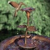 Ancient Graffiti Copper Bird Bath Dripper / Fountain Hummingbird (AG940HB)