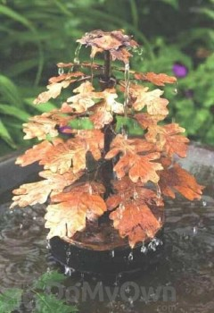 Ancient Graffiti Oak Leaf Solid Copper Bird Bath Dripper (AG940LF)