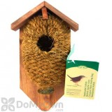 Best For Birds Nest Pocket Coconut Fiber Bird House with Roof (BFBNKBC)